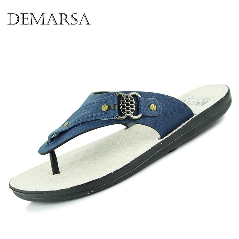 Size 40-45 New Summer Sandals Men Summer Shoes Brand Flip Flops Men Sandals Flats Open Toe Beach Slippers For Men C010(China (Mainland))