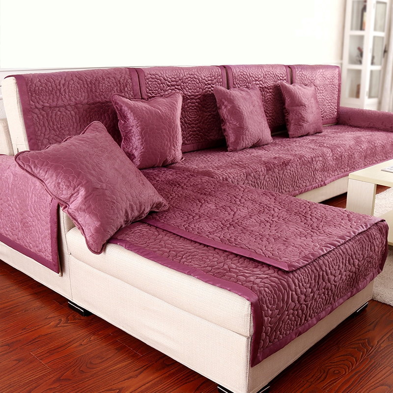 4color 2or3 seat sofa covers fleeced fabric knit eco - Forro para sofas ...