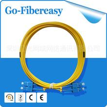 5Meters Fiber Optic Cable/Patch Cord SC/UPC Duplex Fiber,SM 9/125um PVC cable - Shenzhen GoFibereasy Network Communication Co.,LTD store