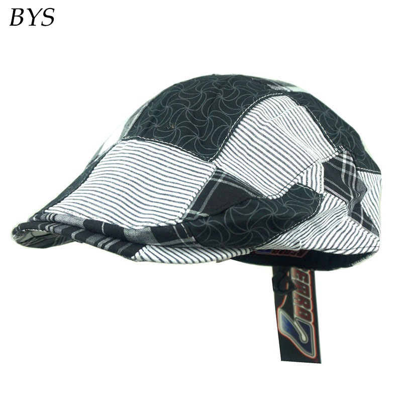 2016 New Retro Street Easy Traditional Solid Cotton Gatsby Newsboy Cap Kid and Baby Boy's Hat Houndstooth Driver Beret Casquette(China (Mainland))