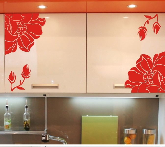 washing machine vinyl stickers images With kitchen cabinets lowes with wall art flowers
