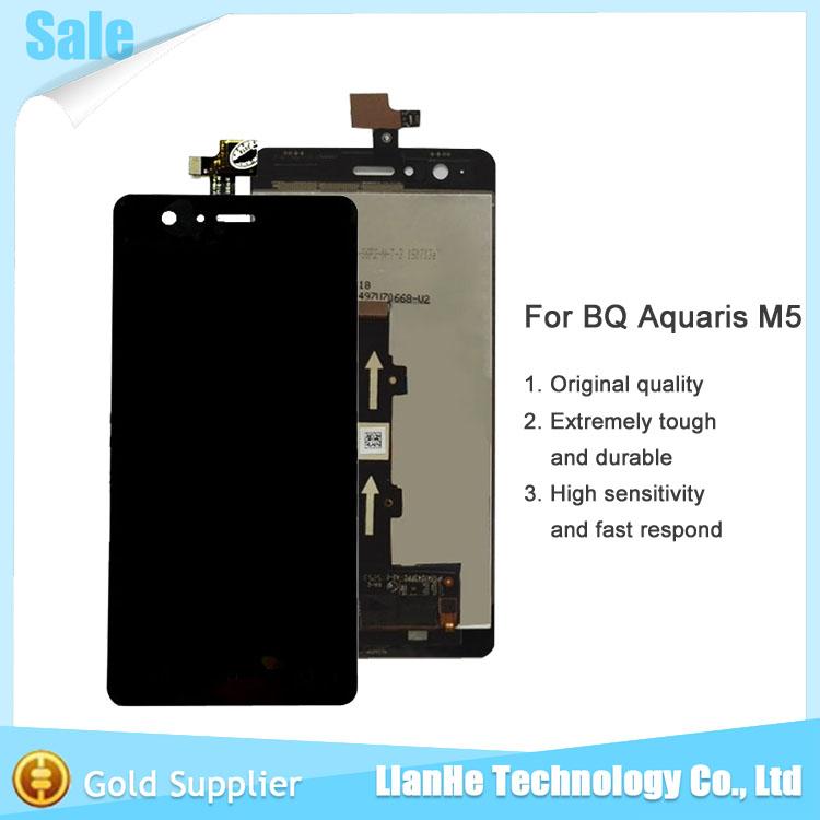 New Original for BQ Aquaris M5 Pantalla LCD Display+Touch Screen Digitizer Assembly 5K1396FPC Version Replacement Negro Black