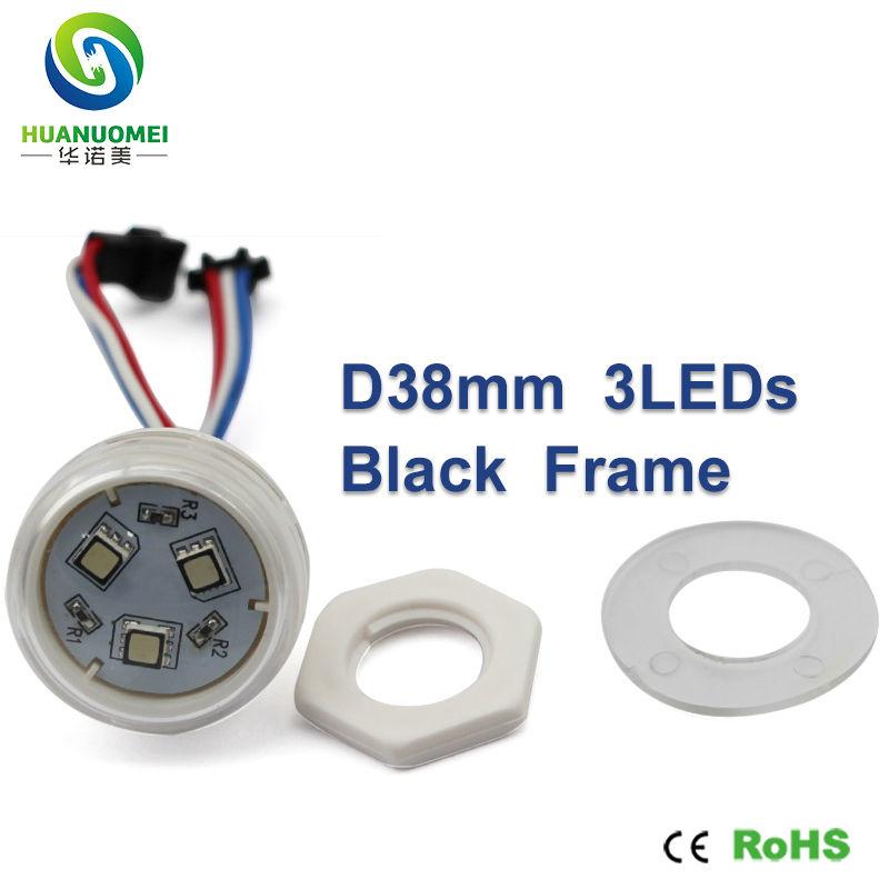 high quality waterproof addressable magic dream color ucs1903 38mm 3leds smd 5050 black frame led pixel module light bulb lamp(China (Mainland))