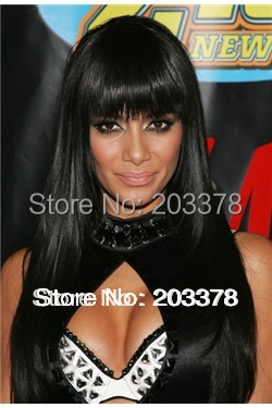 Lace wig Super Charming hair Straight Black Lace Front Wig 24 Inches Free Shipping