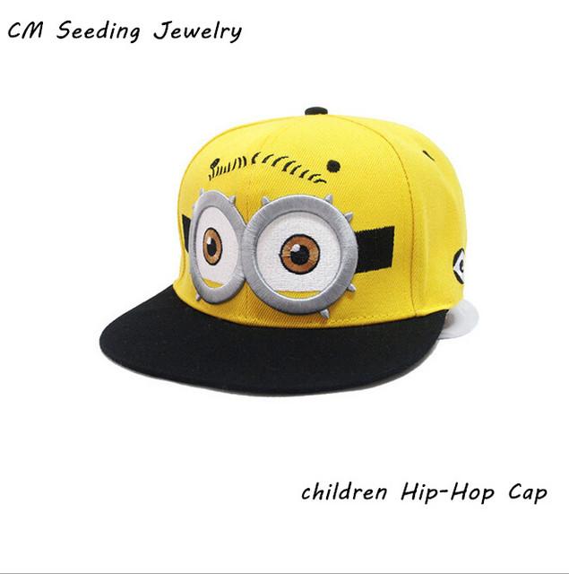 Новый 4 - 9 года детей-бесплатная бейсболка Gorras желтый мультфильм Casquette бог ...