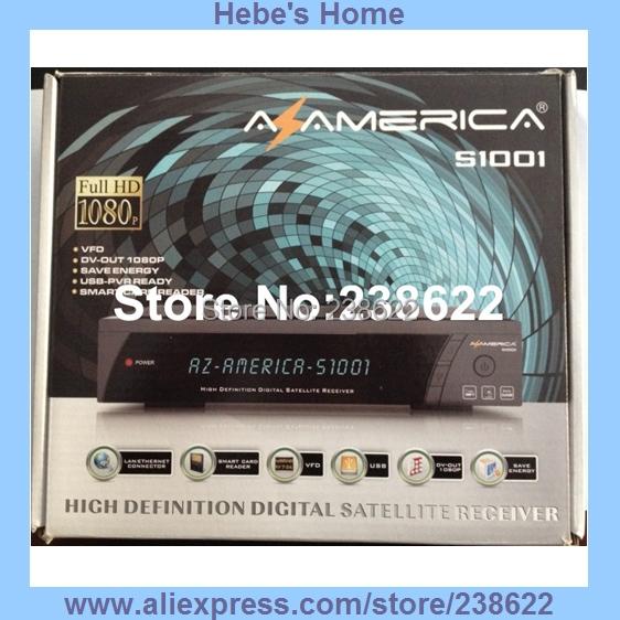 Free Shipping Original Newest Version Azamerica S1001 Twin Tuner Full HD Smart Card Reader&Ethernet&USB PVR Az America S1005 HD(China (Mainland))