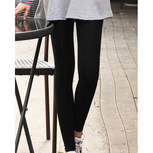 Hot New 2015 Fashion Women Leggings Ankle Length Solid Cotton Leggins Knitted Mid Waist Solid Casual Pants Black Free Shipping(China (Mainland))