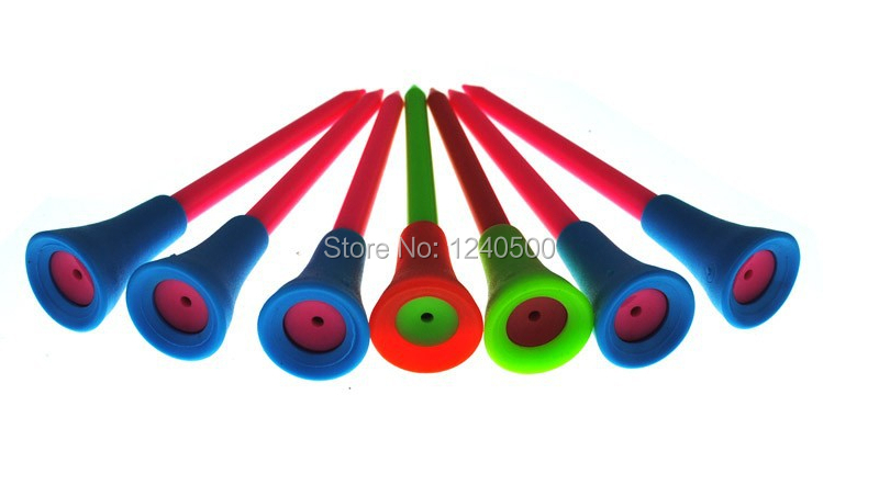 Free Shipping 50pcs/bag Multi Color 8.3MM Plastic New Golf Tees Rubber Cushion Top(China (Mainland))