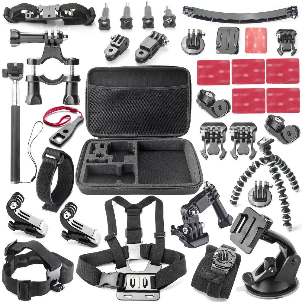 Gopro Accessories Acessorios For Sj5000 Go pro Hero 1 2 3 4 HDR-AS15/AS20/AS30V/AS100V/i Sony FDR-X1000V/W 4K Action Camera