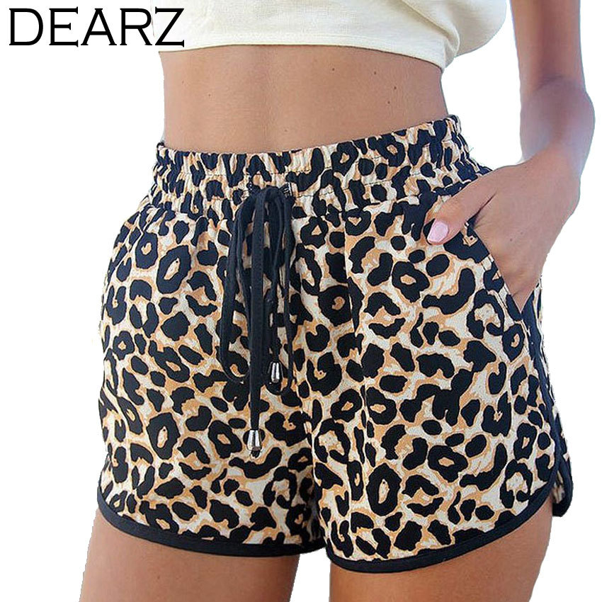 2015 New Hot Women's Shorts Plus Size S-2XL Spring and Summer Loose Leopard Shorts Beach High Waist Casual Short Pants dz127z(China (Mainland))
