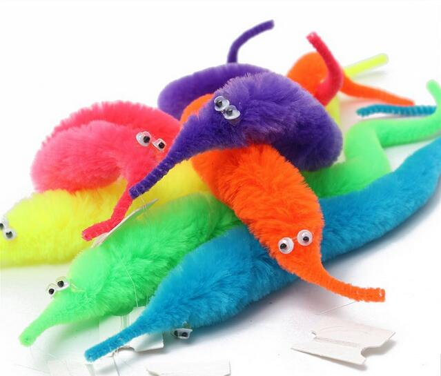 No Box 1200 Piece Magicians Toy Magical Worm Magic Trick Twisty Plush Wiggle Stuffed Animals Street Toy  Free shipping DHL<br><br>Aliexpress