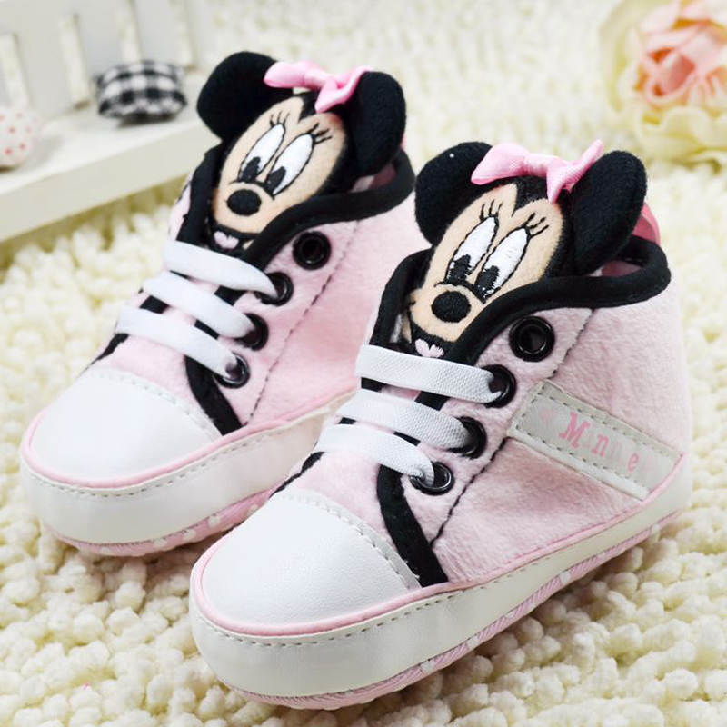 D302 Free shipping high cute mickey shoes baby prewalker shoes,first walkers,infant casual shoes,baby shoes