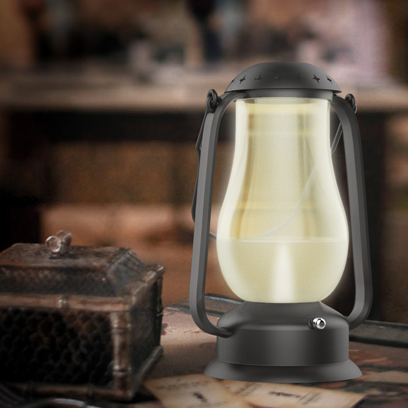 Original Flameless Blowing Control LED Lamp Retro Barn Lantern USB Rechargeable LED Desk Night Light,Outdoor Indoor Blow Light(China (Mainland))