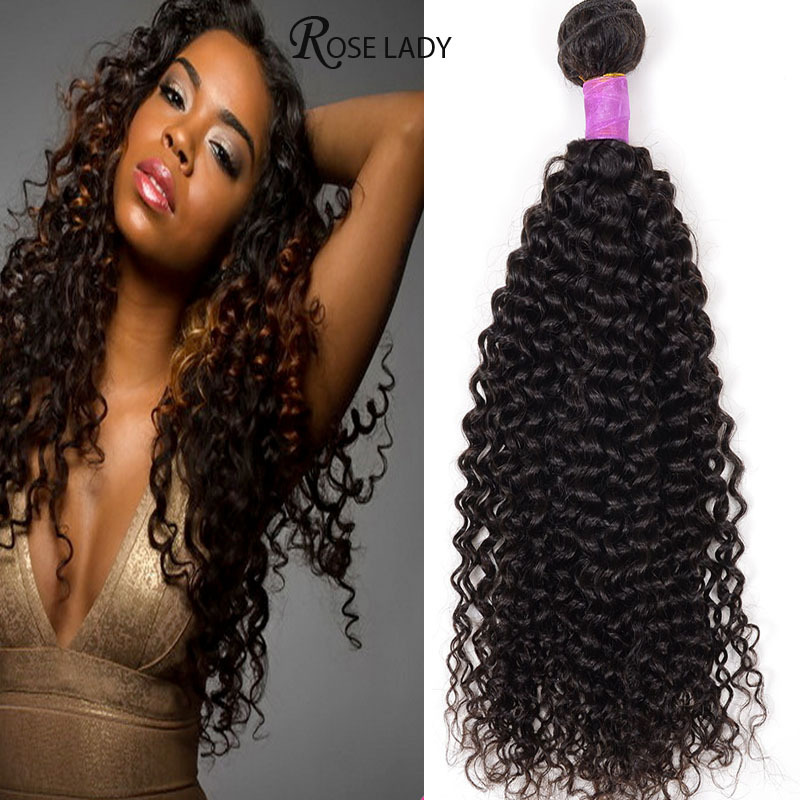 Rosa Hair Queen Indian Curly  Virgin Hair 4 Bundles Human Hair Weave Cheap Aliexpress India Afro Kinky Curly Top Hair Extensions