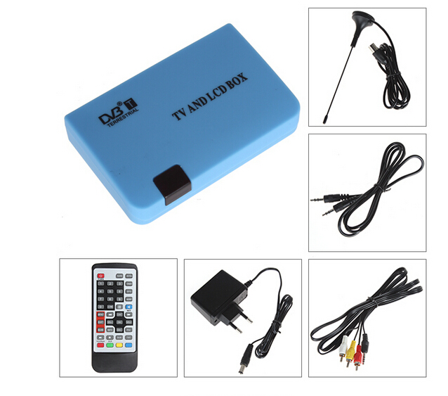 2015 Newest Digital TV Box LCD VGA/AV Tuner DVB-T FreeView Receiver DVB VGA 02 for PC monitor TV sets(China (Mainland))
