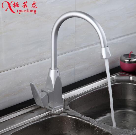 manufacturers wholesale new space aluminum kitchen faucet hotcold kitchen sink single hole faucet water tap free shipping. beautiful ideas. Home Design Ideas