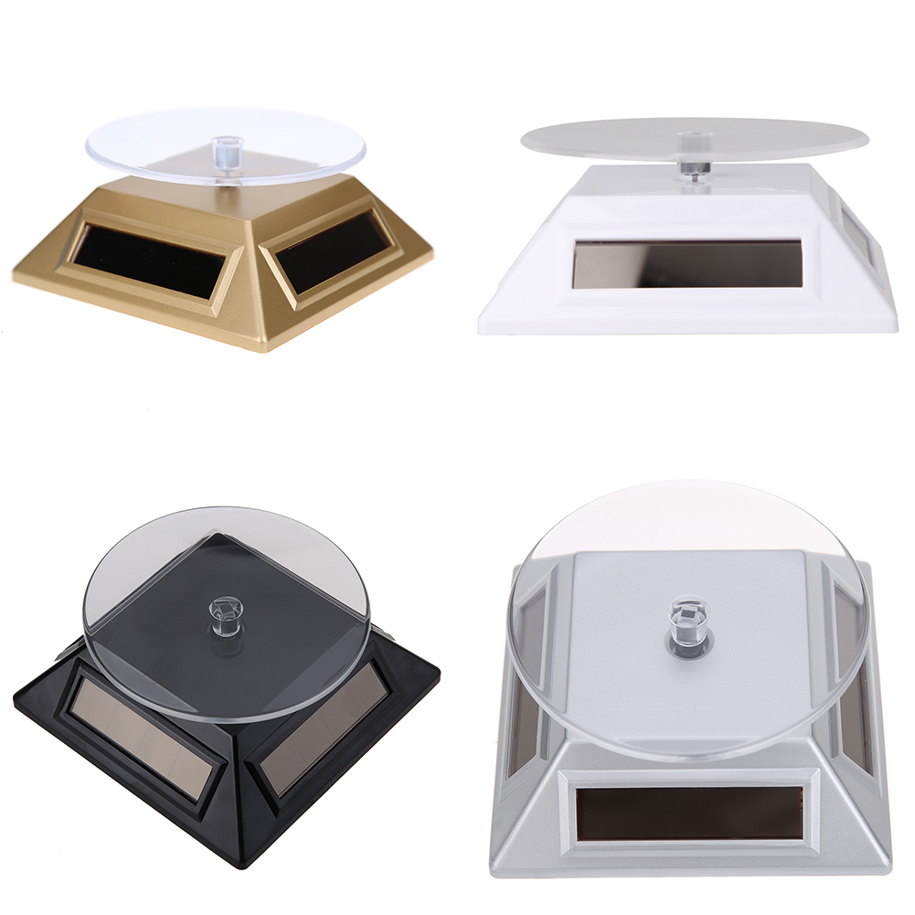 Solar Jewelry Showcase 360 Turntable Rotating Jewelry Watch Ring Display Stand 037 Rack Holder Jewellery Display Stands(China (Mainland))