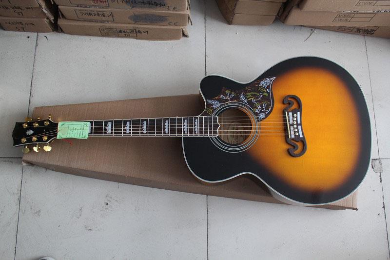 HOT Wholesale Deluxe Sunburst J200 Vintage Sunburst Acoustic Guitar in stock, Free Shipping(China (Mainland))
