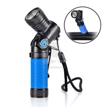 Portable New Blue Mini 90 Degree Right Angle Cree Q5 LED Flashlight Torch Work Light Lamp (China (Mainland))