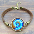 Fashion Unique Bracelets Bangles WoW World of Warcraft Hearthstone Picture Vintage Brown Rope Bracelets for Women