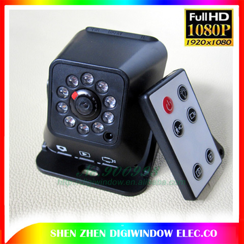 HD 1080P Night Vision mini Camera Digital Video Camera 3.8m DVR Support TF card Camcorder +Wireless remote control(China (Mainland))