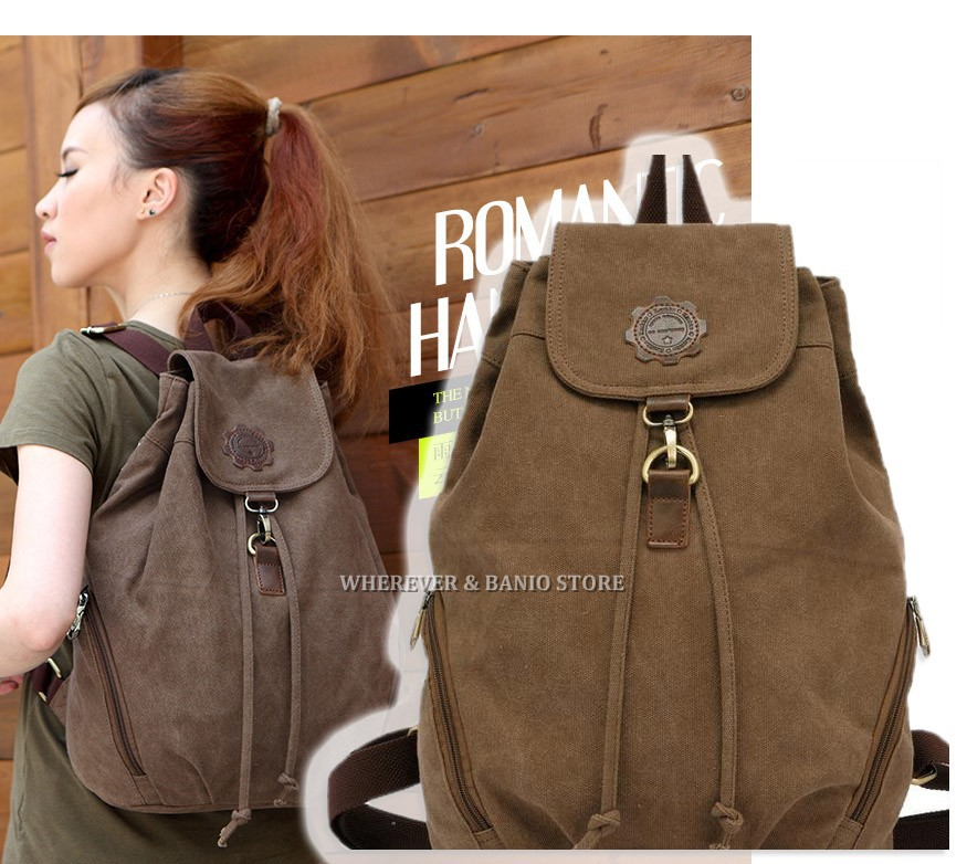 New Arrival High Quality Canvas Vintage Travel Bag Women Backpack 5 Colors For Women Fashion
