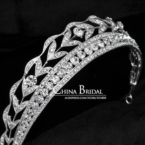 Luxurious Bridal Rhinestone Tiara, Women Crown Wedding Accessory Bridal Jewelry Prom Party, tiara noiva wedding hair accessories(China (Mainland))