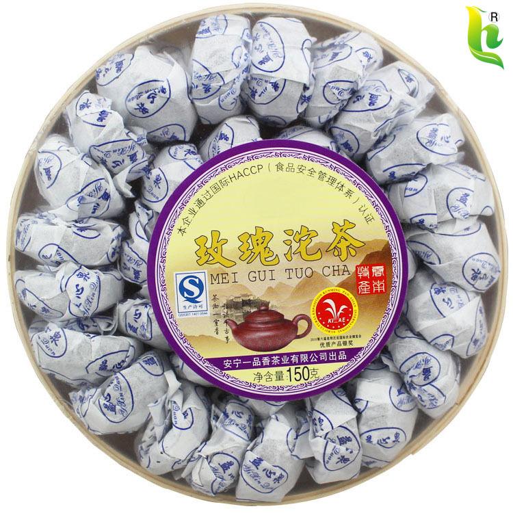 Hot Sale Black Tea Flavor Pu er Puerh Tea Chinese Mini Yunnan Puer Tea Green Food