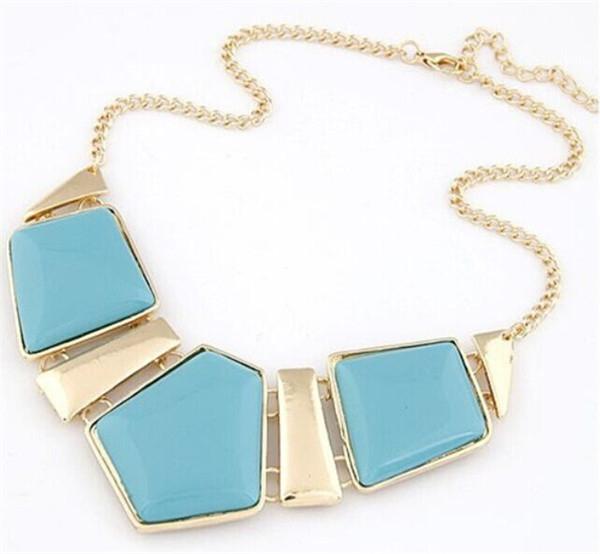 Новые конфеты цвет воротник ожерелья подвески мода себе металл колье ожерелье для женщин 2016 урожай ювелирных изделий