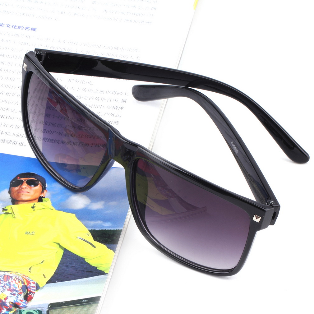 cool sports sunglasses  Wholesale Men Retro Goggles Rectangular Rivet Sunglasses ...