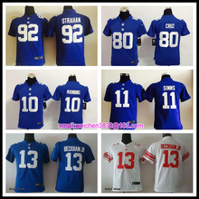 SALE New York Giants quality For youth kids girls Home Away Odell Beckham Jr Eli Manning Victor Cruz Phil Simms BR-3,camouflage(China (Mainland))