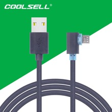 COOLSELL 0.5m/1m/2m/3m Right 90 Degree USB Cable Fast Charging & Data Sync Cords for iPhone 5s 6s Samsung S6 S7 HTC LG(China (Mainland))