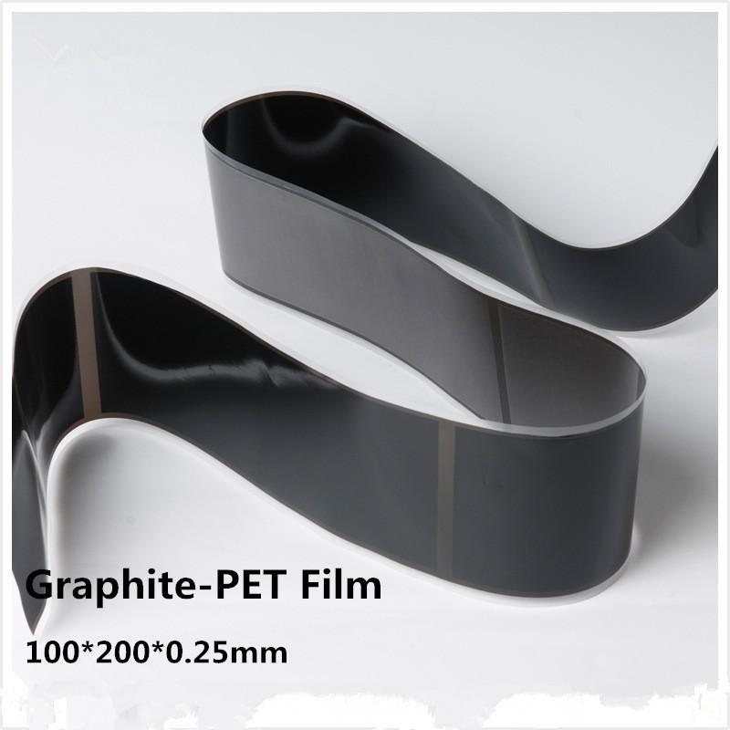 100*200*0.25mm  Flexible Graphite Sheet (adhesive bond)  2pcs, FREE SHIPPING<br><br>Aliexpress
