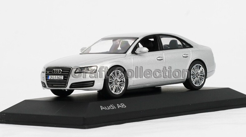 Good Silver 1:43 Car Model Audi A8 Commercial VehicleMinicar Diecast Classic  Toys Replica Luxury Collection