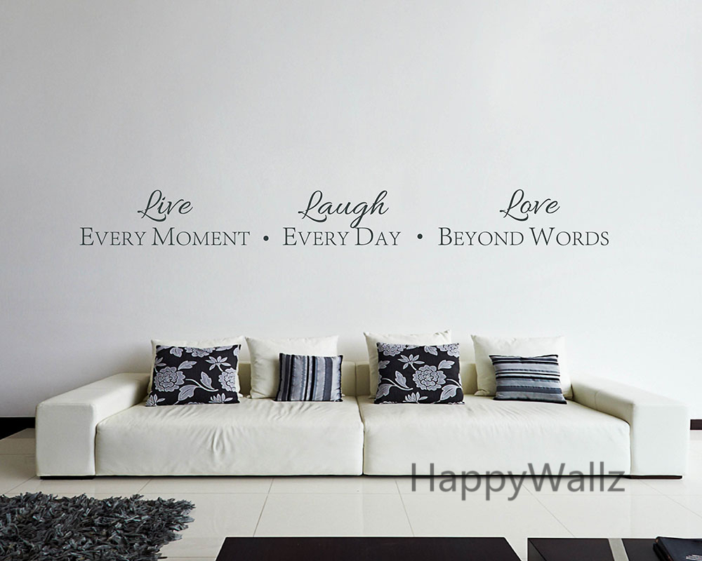 Beyond Words Customizable Wall Decor Kohls : Motivational quote wall sticker live every moment laugh