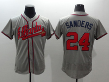 Mens top quality jersey 100% Stitched 24 Deion Sanders Flexbase Baseball Jerseys Color white red gray blue(China (Mainland))