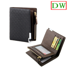2014 Brand new Short Design Cowskin and PU Synthetic Leather Korean iron side Coin zipper Pocket Men's wallet