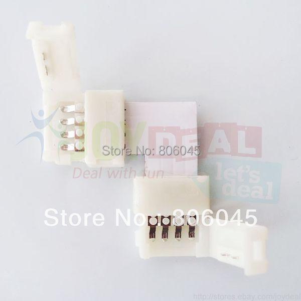 Гаджет  10PCS L-Shape 10mm 4-Conductor Quick Splitter Right Angle Corner Connector for RGB LED Strip None Свет и освещение