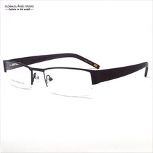 Popular Design Business style Men's metal half Frame with good spring hinges Eyewear/Glasses Frame SR1005 C2