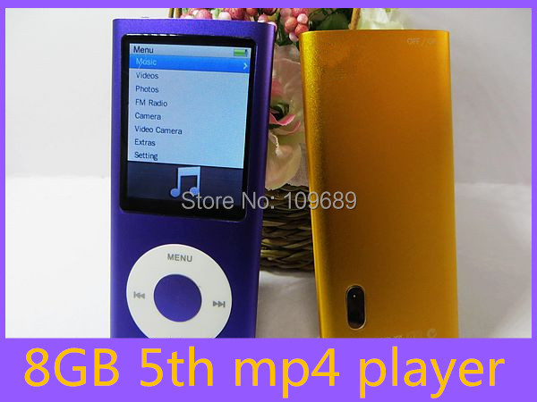 5th 8GB Great promotion! New 5th Gen 8GB MP3/MP4/MP5 Player with Camera 300PCS free shipping(China (Mainland))