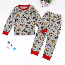 The spring and autumn season patrol dog patrol pyjamas kids Home Furnishing.boys pyjamas(China (Mainland))