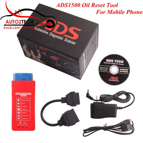 DHL Free! ADS1500 Oil Reset Tool high quality ADS1500 Diagnostic Tool Support Android, WIN 7 & Windows XP operation system(China (Mainland))