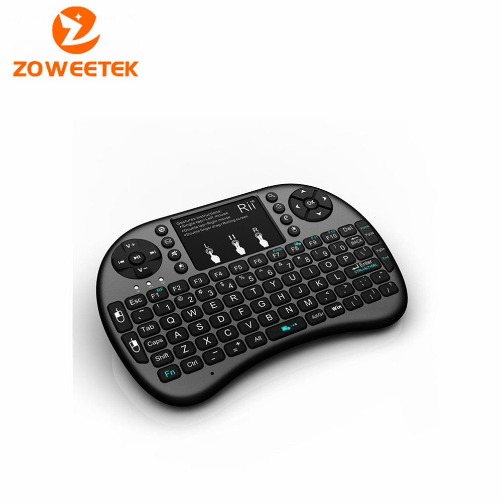 2.4GHz Black Rii Mini i8+ Wireless Keyboard With Touchpad Teclado Mouse Combo For PC HTPC Smart TV Android TV Box Game Keyboards(China (Mainland))