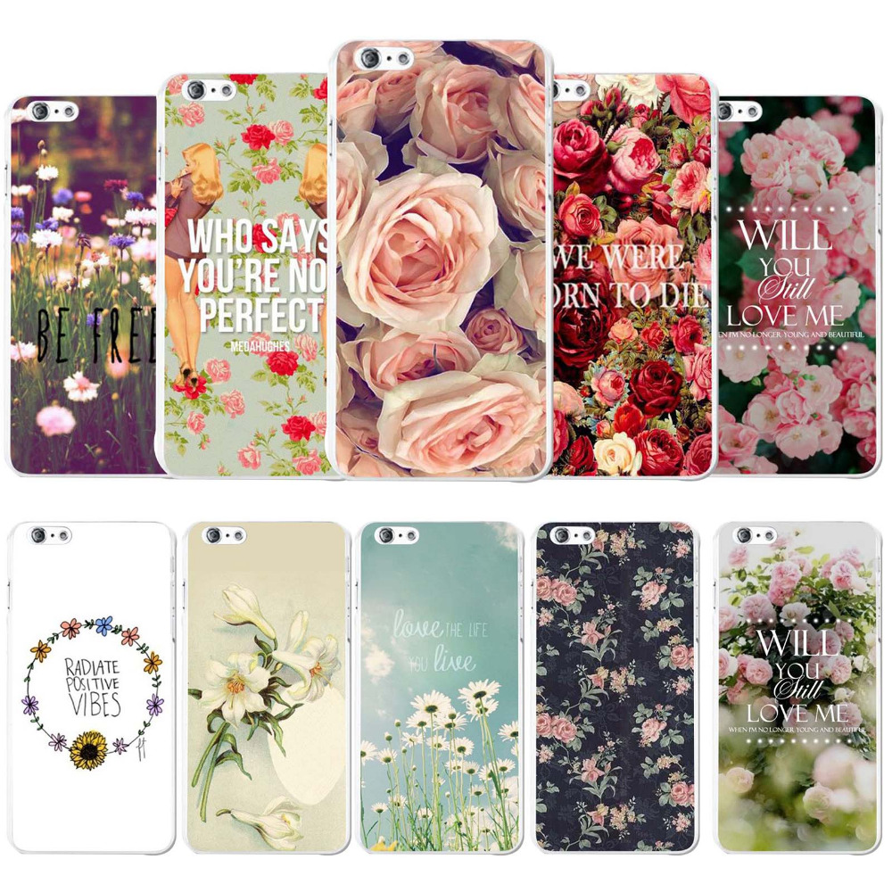 "Phone Case Cover For Apple iPhone 6 6s 4.7"" Gorgeous Romantic Flowers Roses Painted Printed Hard PC Mobile Phone bags Protector(China (Mainland))"