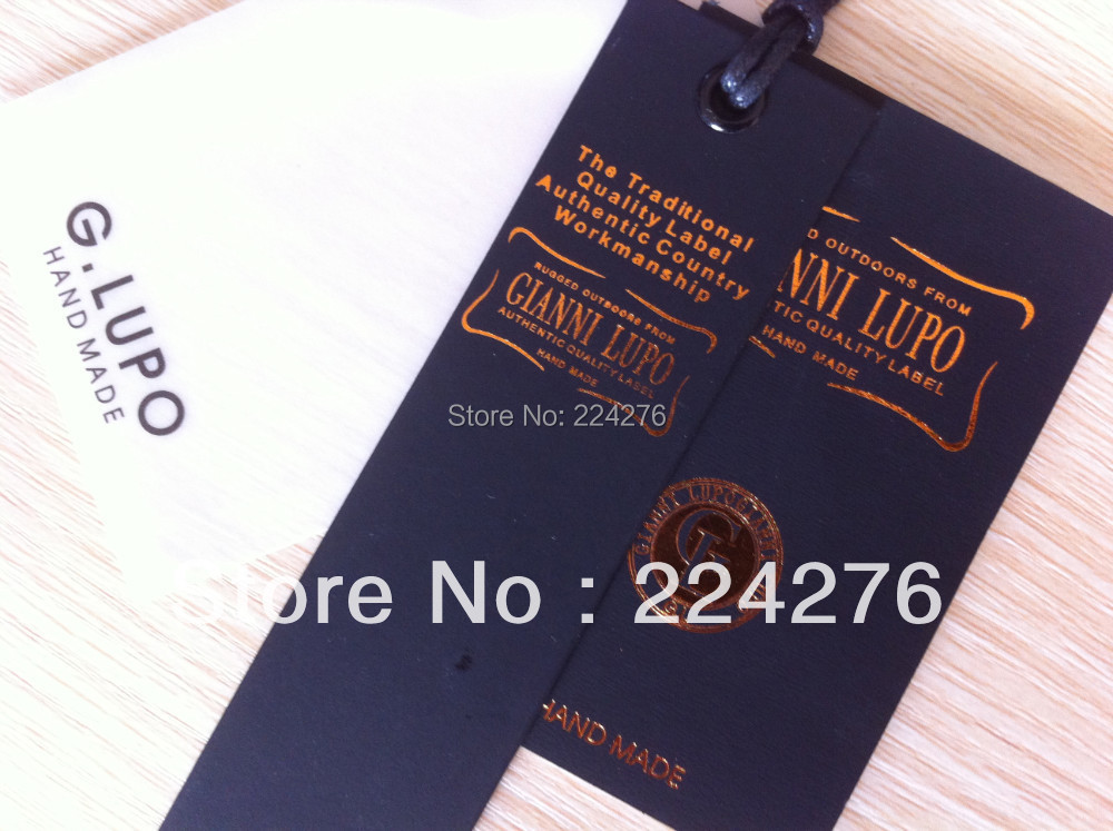 MOQ 200pcs OEM swing tag for clothing full color printing personalized tags for clothing/jewelry labels and tags hang tag labels(China (Mainland))