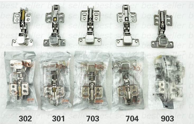Stainless Steel Fixed Two-way Wardrobe Cabinet Hinge Half Overlay 105 1pc(China (Mainland))