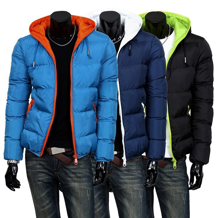 2014 mens winter jacket men's hooded wadded coat thickening outerwear male slim casual cotton-padded outwear 5 colors - Hyatt boutique Meeting store