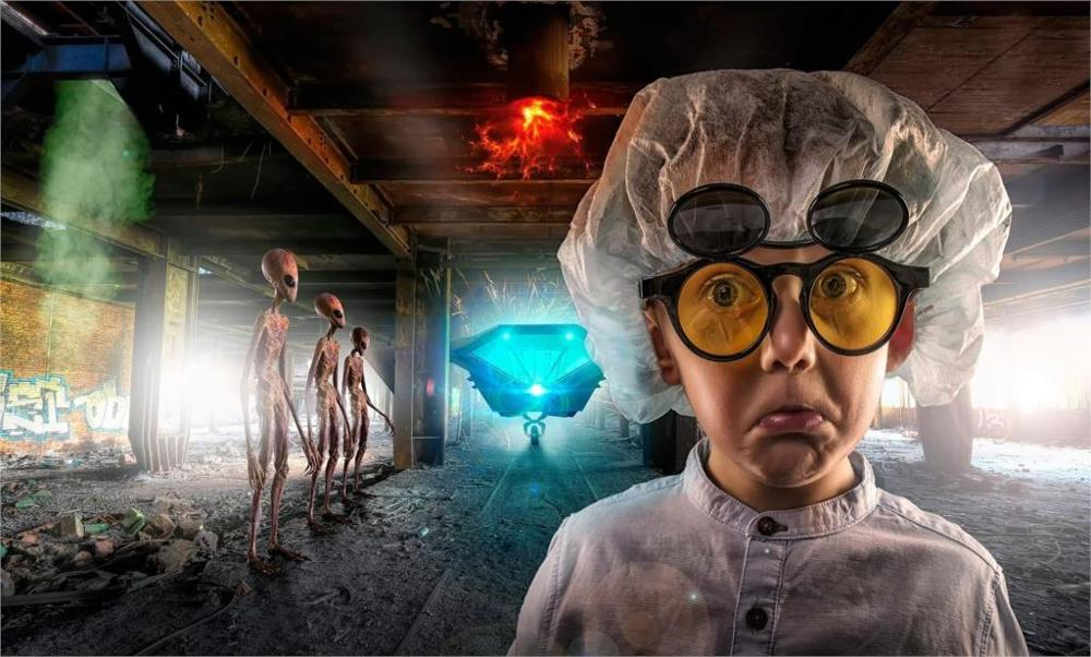 Faces glasses lab coats aliens abandoned buildings fire dust bricks rooftops 3 Sizes Silk Canvas Poster Print(China (Mainland))