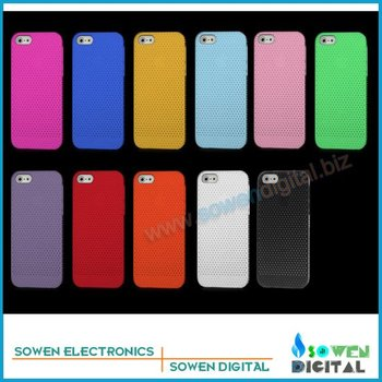for iPhone 5 5G net hole design case cover plastic hard case,10pcs/lot+Free shipping