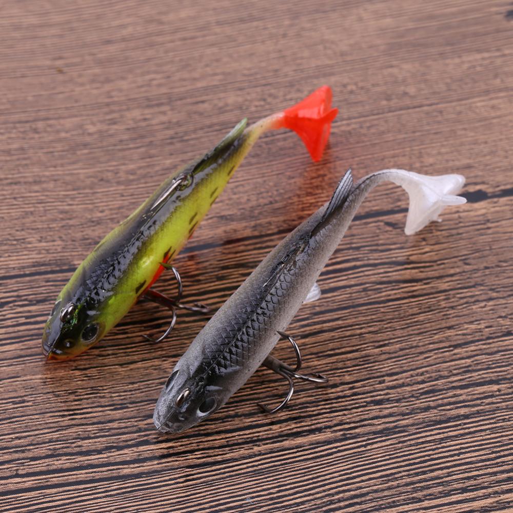1PCS Cheap Fishing Lures Soft Baits Plastic Minnow Fishing Lures Swim Bait Wobbler Crankbaits Tackle Hooks Swivel Paillette(China (Mainland))